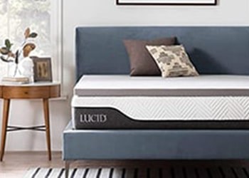Lucid Bamboo Charcoal Mattress Topper